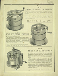 Advert for the American Ice Cream Making Machine
